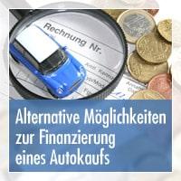 Alternativen zur Finanzierung eines Autokaufs