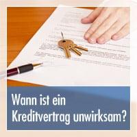 Kreditvertrag unwirksam